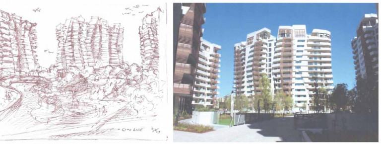 khối chung cư lớn tên là Citylife ở Milan (Italia)